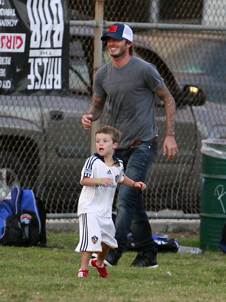 Photos: David Kicks the Ball With His Boys Then Does Dinner With Victoria