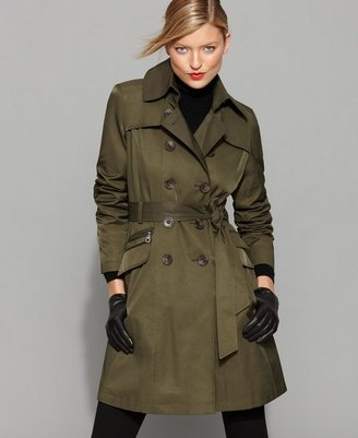 We all need a snazzy Fall coat, and this DKNY Coat, Abby Zip Pocket Trench ($100) has me written all over it. I especially love the color.