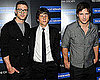 Justin Timberlake, Jesse Eisenberg and Peter Facinelli at The Social Network Screening in NYC