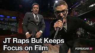 Video of Justin Timberlake Rapping With Jimmy Fallon and at The Social Network Screening