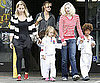 Slide Picture of Heidi Klum Getting Leni, Henry, and Johan From Karate Class in LA