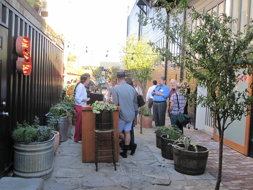The soil tasting was outside in the quaint patio.