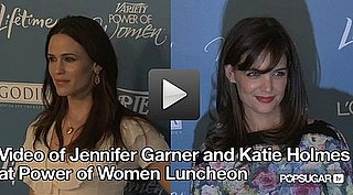Video of Jen Garner & Katie Holmes's Power Lunch