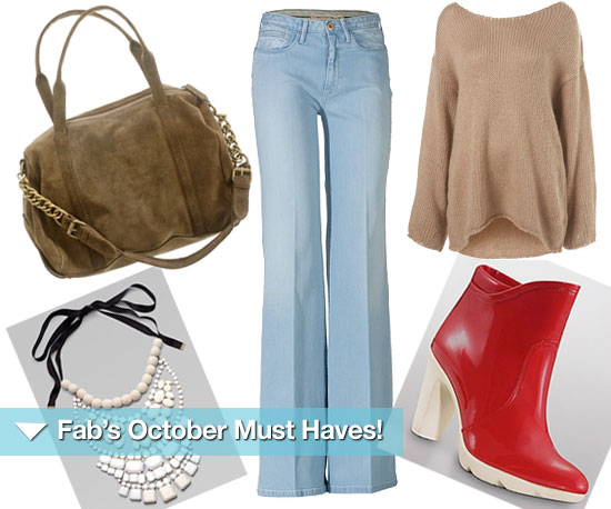 Boho + Chic + Cool = Fab's October Must Haves!