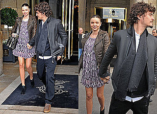 Front Row Celebrities at Paris Fashion Week Including Orlando Bloom and Pregnant Miranda Kerr