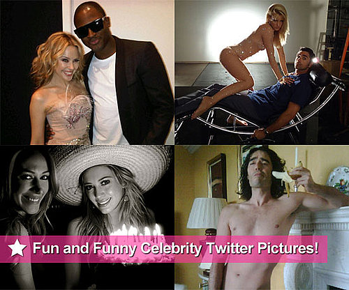 Russell, Hilary, Kylie, the Glee Kids and More in This Week's Fun and Funny Celebrity Twitter Pictures!