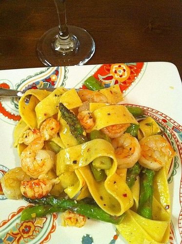 Lemon Shrimp Asparagus Pasta