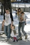 Pictures of Sarah Jessica Parker and the Twins at the Park
