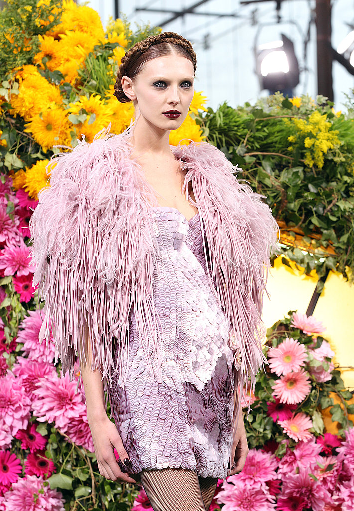 Giles Deacon's First Emanuel Ungaro Collection — for Spring 2011— Involved Anna Dello Russo Modeling a Sheep Purse