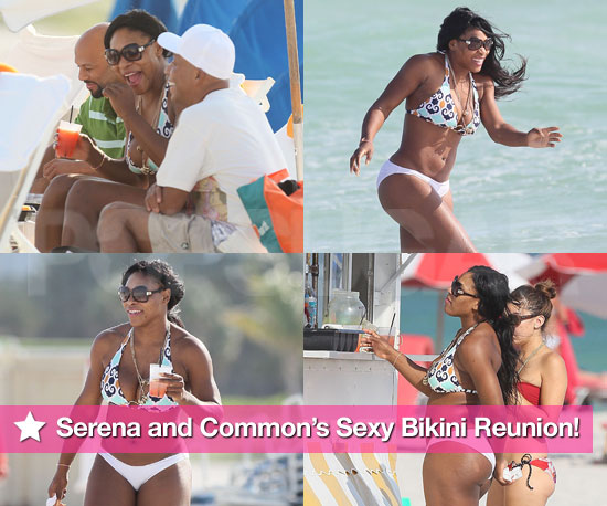 Pictures of Serena Williams in Bikini With Common and Russell Simmons