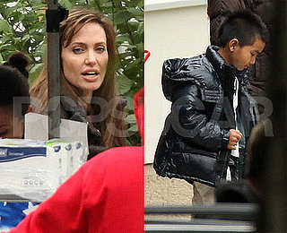 Pictures of Angelina Jolie on Set in Europe With Maddox Jolie-Pitt