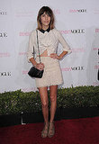 Alexa Chung chose a Michael Kors resort 2011 organic lace skirt.