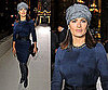 Salma Hayek Wears a Turban to Paris Fashion Week