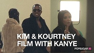 Video of Kim Kardashian Filming New Show With Kourtney Kardashian and Kanye West 2010-10-05 13:09:44