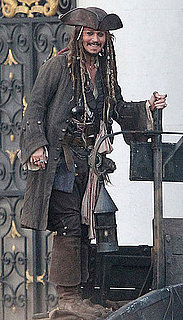 Pictures of Johnny Depp Flashing a Swashbuckling Smile on the Pirates Set