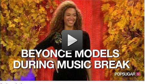Video of Beyonce Modeling on The Today Show