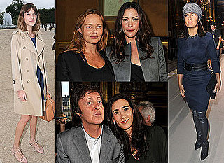 Alexa Chung, Salma Hayek, Liv Tyler at Paris Fashion Week S/S 2011