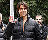 Slide Picture of Tom Cruise Wearing a Black Jacket on the Set of Mission Impossible 4