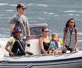 Matt Damon and Luciana Damon brought their daughters Alexia and Isabella out for a ride on Lake Como in August 2009.
