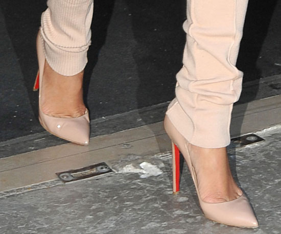 On her feet? Louboutins, of course.