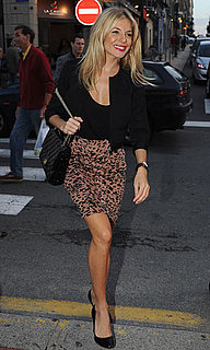 Pictures of Sienna Miller Wearing Twenty8Twelve Leopard Print Mini