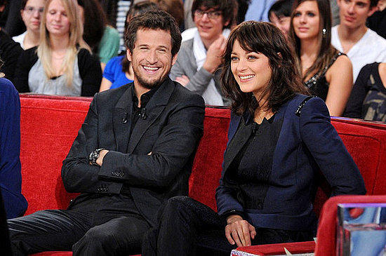 "Marion Cotillard and her boyfriend Guillaume Canet appear together for a taping of ""Vivement Dimanche."" ."