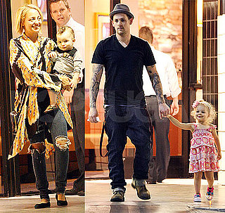Pictures of Nicole Richie, Joel Madden, Harlow and Sparrow at California Pizza Kitchen