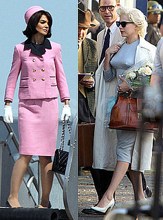 Pictures of Katie Holmes as Jackie Kennedy and Michelle Williams and Marilyn Monroe