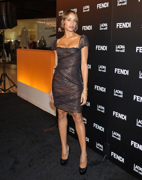 Dania Ramirez showed off her sexy decolletage in a shimmery dress at a Fendi event in LA.