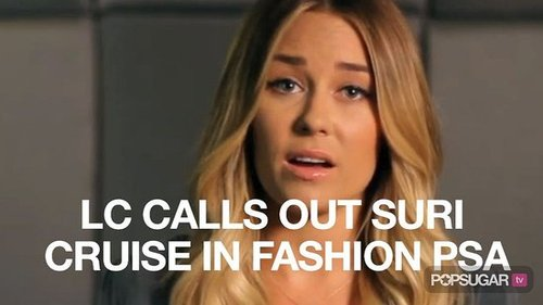 Video of Lauren Conrad Speaking in Fashion PSA Spoof