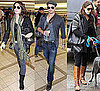 Pictures of Nikki Reed, Kellan Lutz, and Ashley Greene at Airport