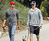 Slide Picture of Neil Patrick Harris and David Burtka Walking Dogs in LA