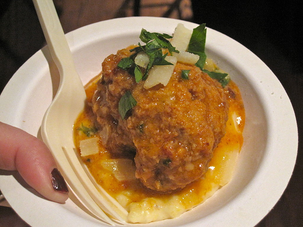 This plump meatball was decent, but the polenta it was sitting on tasted more flavorful than the meatball itself.