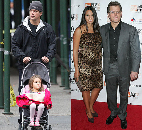 Pictures of Matt Damon With Isabella and Pregnant Luciana at Hereafter Premiere