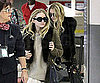 Slide Picture of Mary-Kate and Ashley Olsen at LAX
