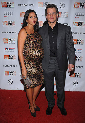 Matt Damon and Pregnant Wife Luciana at Hereafter Premiere in NYC With Clint Eastwood and Bryce Dallas Howard