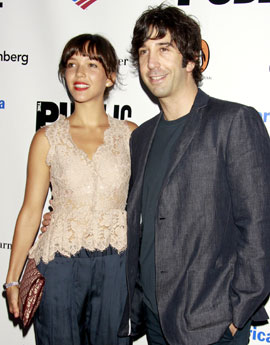 Pictures of David Schwimmer and His Wife Zoe Buckman Who Got Married in June