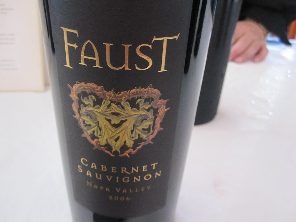 Faust's 2006 Cabernet Sauvignon was a classic Napa red with cedar aromas. It was so lush, I wanted more than just a taste.