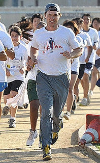 Pictures of Matthew McConaughey Running in a JKLivin Event in LA