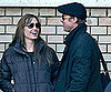 Slide Picture of Brad Pitt Visiting Angelina Jolie on the Set in Budapest, Hungary