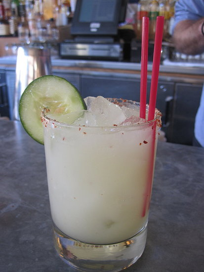 After Eataly, I went to meet the handsome bartender at Cookshop. He made a wildly delicious cucumber jalapeño margarita.