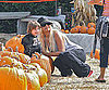 Slide Picture of Christina Aguilera and Max at Pumpkin Patch in LA