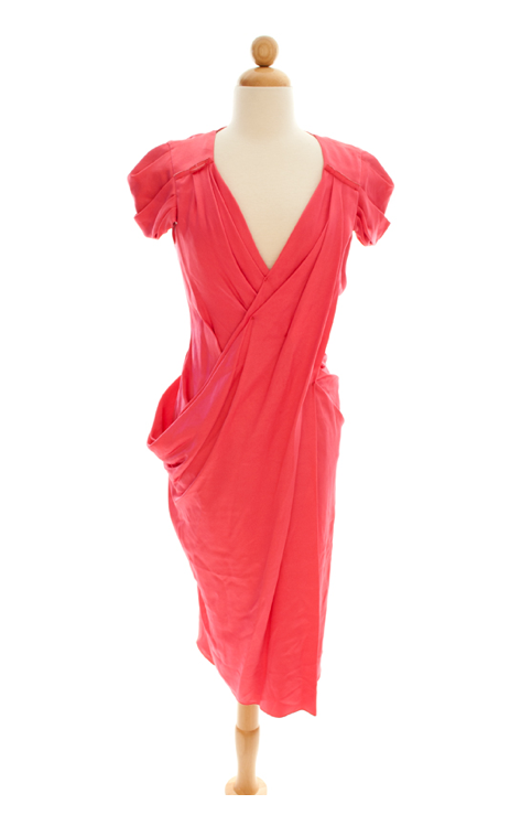 Prada Draped Deep-Pink Dress ($600)