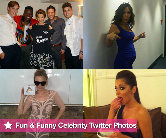 Pictures From Celeb Twitter Accounts Including Cheryl Cole, Dannii Minogue, Kylie Minogue, Myleene Klass and More