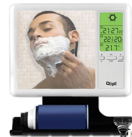 Hammacher Schlemmer Weather Reporting Mirror ($30)
