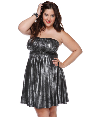 Strapless Metallic Dress ($23)