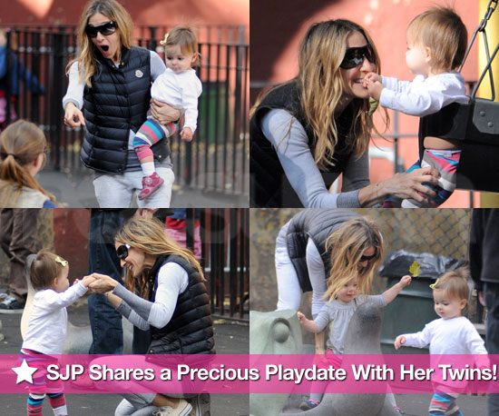 Pictures of Sarah Jessica Parker at a Park in NYC With Loretta and Tabitha Broderick