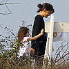 Pictures of Katie Holmes With Suri Cruise on Set in LA