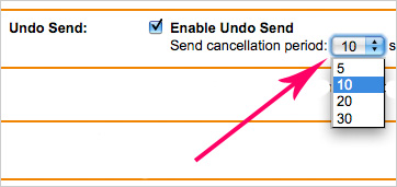 Gmail Undo Send Email Feature