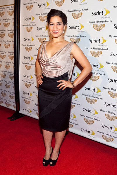 America Ferrera always looks great with in an understated dress.
